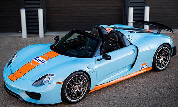 porsche 918 spyder tuning im gulf design bild 3. Black Bedroom Furniture Sets. Home Design Ideas