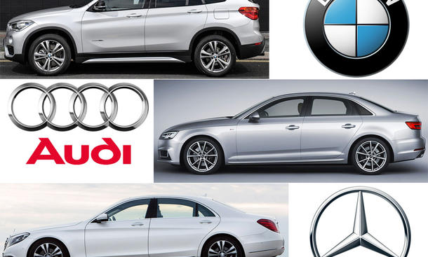 Automodelle von Audi, BMW und Mercedes erkennen