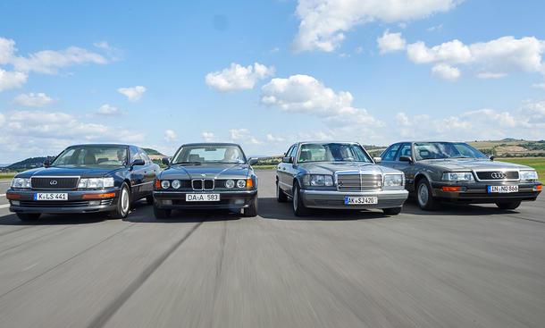 Vergleich Oberklasse-Limousinen der 80er