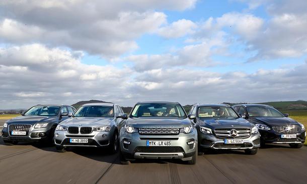 Audi Q5 BMW X3 Land Rover Discovery Sport Mercedes GLC und volvo XC60