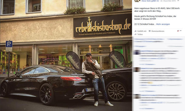 Schwarzes Facebook-Profil