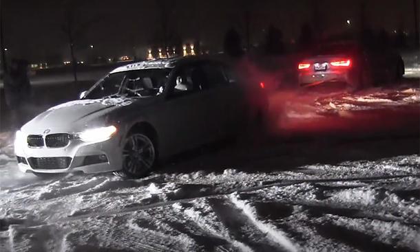 Audi A3 quattro gegen BMW 3er xDrive: Schnee-Duell
