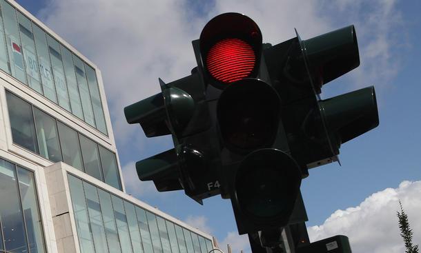 Rote Ampel überfahren
