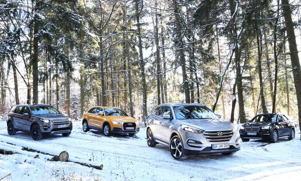 Audi/BMW/Land Rover/Hyundai: Vergleich