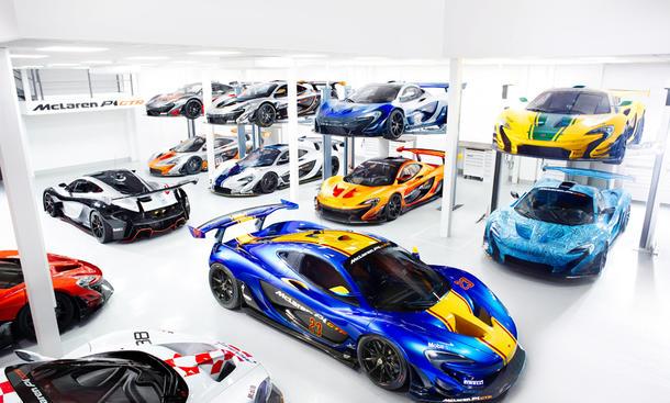 McLaren P1 GTR: Einblick in Werkstatt