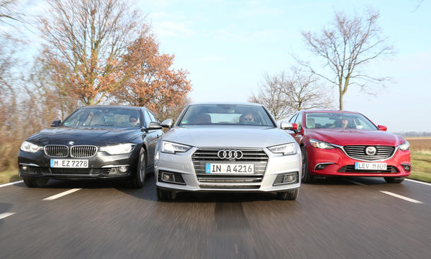 Audi A4/Mazda 6/BMW 320i: Vergleichstest