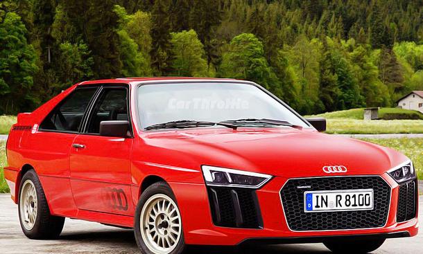 Audi quattro mit R8-Kühler