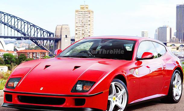Ferrari FF mit der Front des Ferrari F40