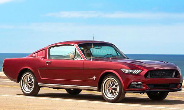 Ford Mustang der ersten Generation mit der Front der sechsten Generation