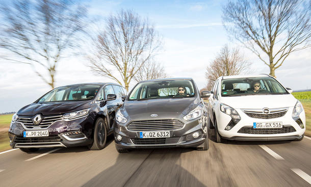 Ford S-MAX/Opel Zafira/Renault Espace: Vergleich