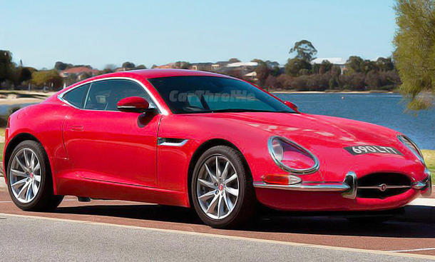 Jaguar F-Type mit der Front des Jaguar E-Type