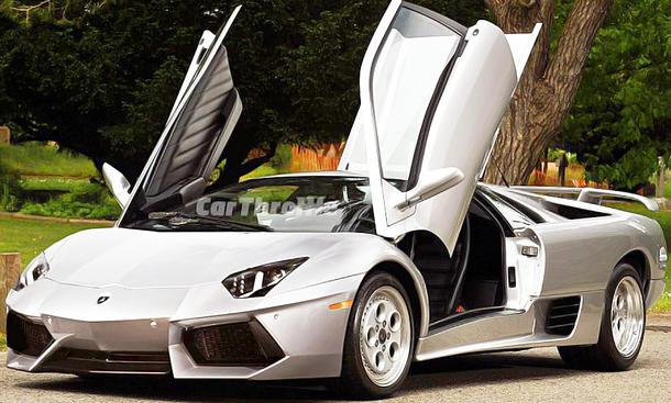 Lamborghini Diablo mit der Front des Lamborghini Aventador