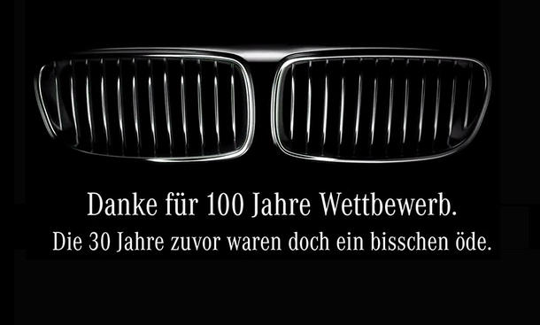 100 jahre bmw mercedes gratuliert. Black Bedroom Furniture Sets. Home Design Ideas