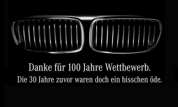 100 Jahre BMW: Mercedes gratuliert