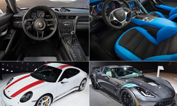 Porsche 911 R vs. Corvette Grand Sport