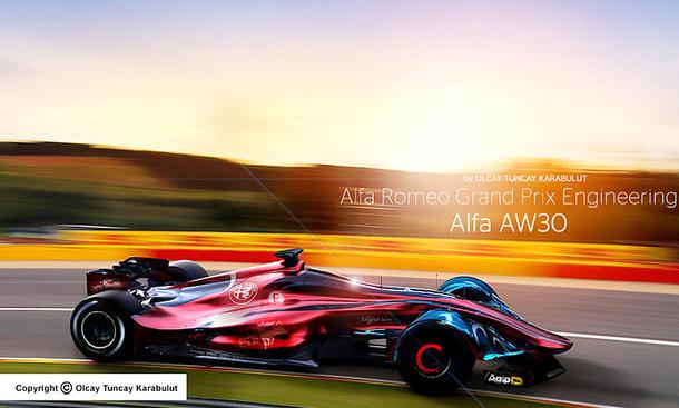 Formel-1-Bolide Alfa Romeo AW30 (Illustration)