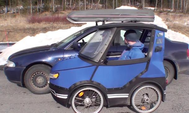 "Schwede baut ""PodRide""-Miniauto"