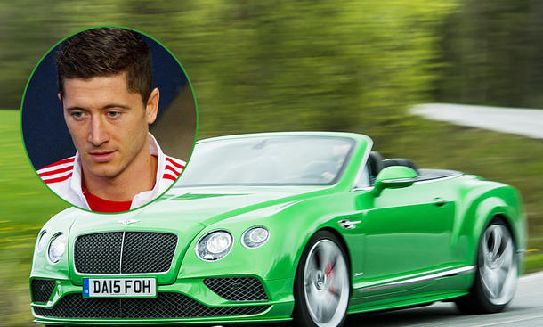 Robert Lewandowski fährt Bentley Continental GT Speed Convertible