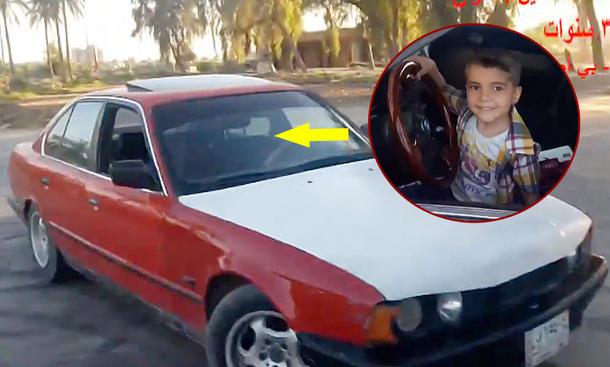 BMW 5er (E34): Dreijähriger zieht Donuts