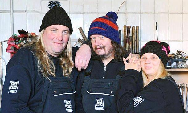 Peter Ludolf (Mitte) und sein L-Team