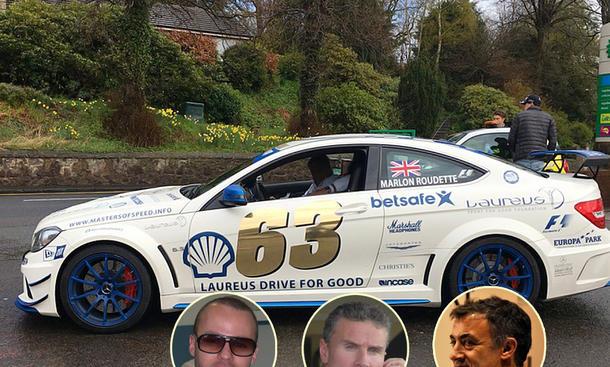 Gumball 3000: David Coulthard, Jean Alesi und Marlon Roudett im Mercedes C63 AMG Coupé Black Series