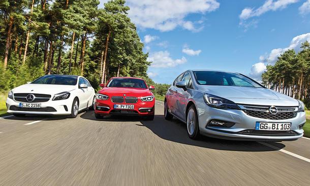 Mercedes A-Klasse / BMW 1er / Opel Astra
