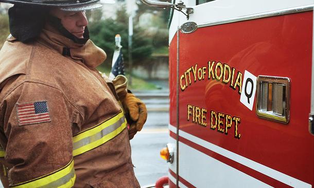 Für SUV Skoda Kodiaq wird aus Alaska-Stadt Kodiak für einen Tag Kodiaq