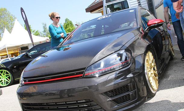 VW Golf 7 in Carbon auf dem GTI-Treffen 2016