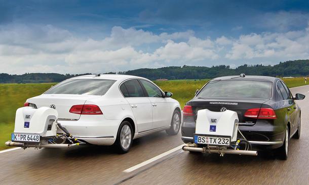 VW Passat-Diesel im Abgas-Test
