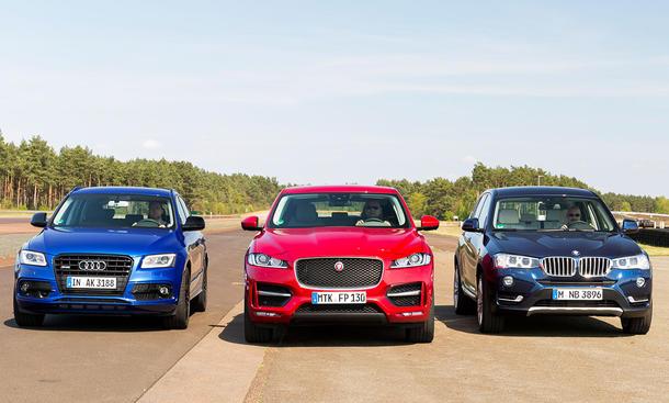 Audi SQ5/Jaguar F-Pace/BMW X3: Vergleich