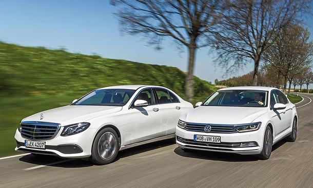 Mercedes E-Klasse/VW Passat: Vergleichstest