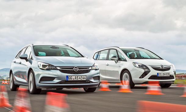 Opel Astra Sports Tourer/Opel Zafira Tourer: Vergleich