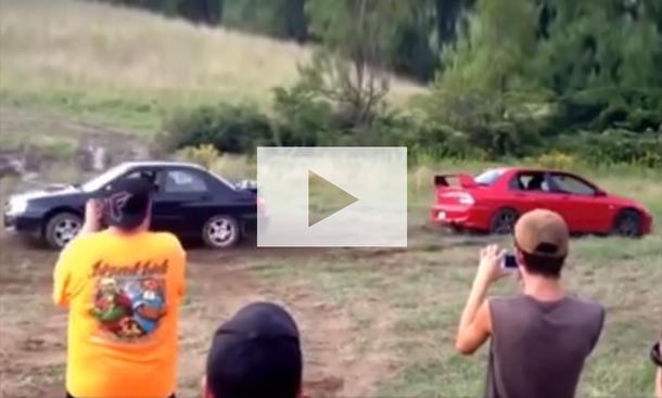 Subaru WRX STI vs Mitsubishi Lancer: Video