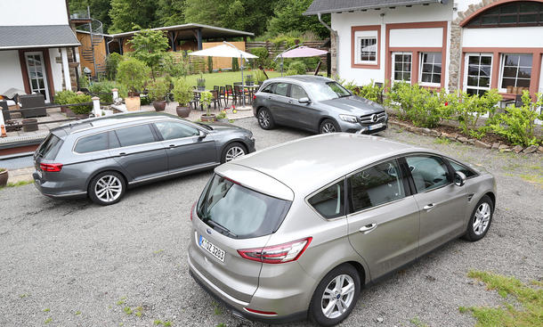 Ford S-MAX/Mercedes GLC/VW Passat Variant: Test