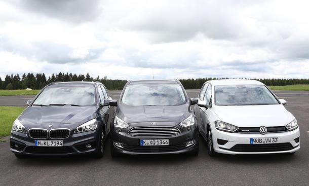BMW 2er Active Tourer/Ford C-Max/VW Golf Sportsvan: Vergleich