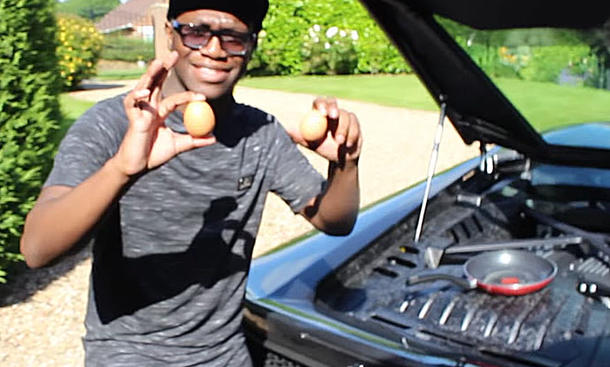 Huracan-Motor brät sich ein Ei