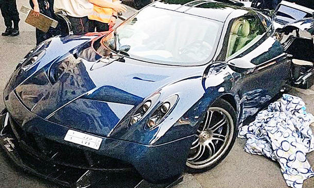 pagani huayra pearl edition 1 of 1: crash | autozeitung.de