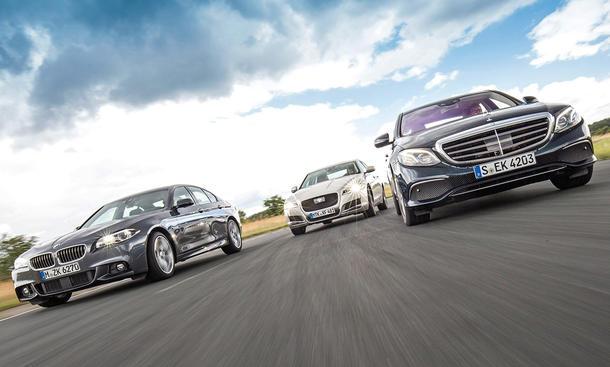 BMW 5er/Jaguar XF/Mercedes E-Klasse: Vergleich