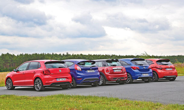Ford Fiesta ST/Mini Cooper S/Opel Corsa OPC/Peugeot 208 GTi/VW Polo GTI: Vergleich