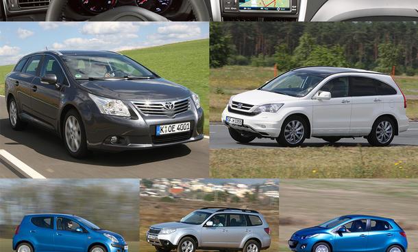 Avensis/CR-V/Forester/Mazda2/Pixo: Gebrauchtwagen