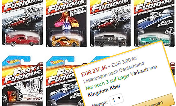 the fast and the furious hot wheels modellautos. Black Bedroom Furniture Sets. Home Design Ideas