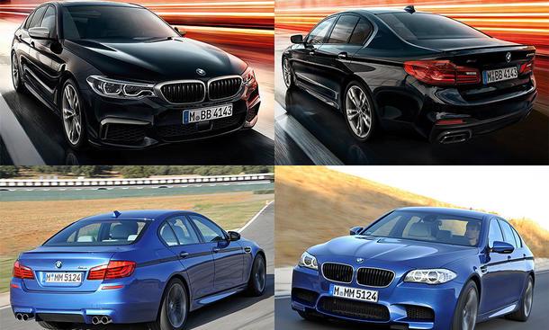BMW M550i xDrive (G30) vs. BMW M5 (F10)