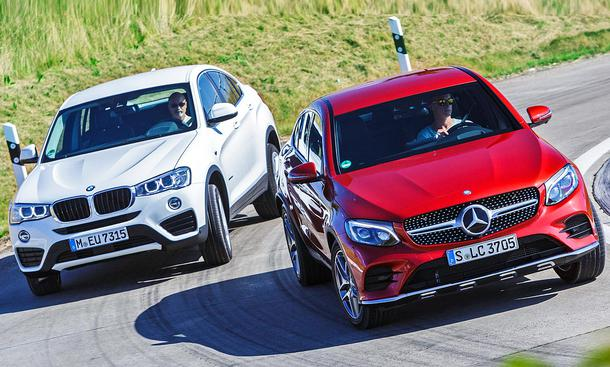 Mercedes GLC 250 d 4Matic Coupé/BMW X4 xDrive20d