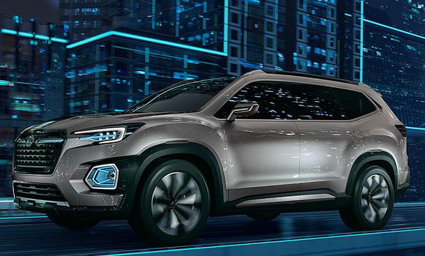 Subaru Neuheiten 2018 >> Subaru Ascent 2018 Erste Fotos Motor Autozeitung De