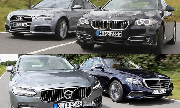 Audi A6/BMW 5er/Mercedes E-Klasse/Volvo S90: Vergleich