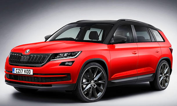 skoda kodiaq sportline 2017 erste fotos bild 2. Black Bedroom Furniture Sets. Home Design Ideas