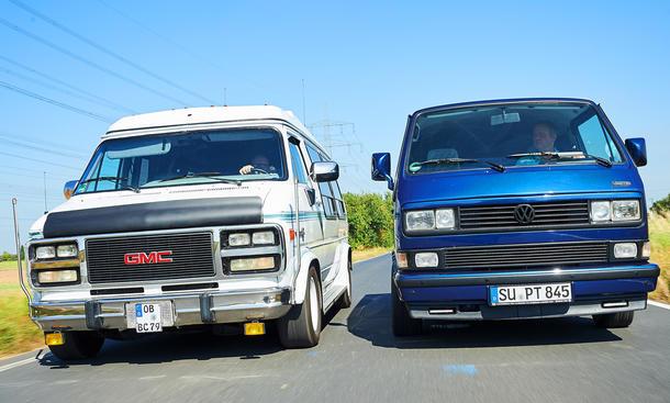 VW T3 und GMC Vandura
