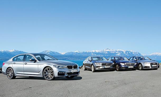 BMW 530d xDrive, Mercedes E 350 d, Audi A6 3.0 TDI quattro, Volvo S 90 D5