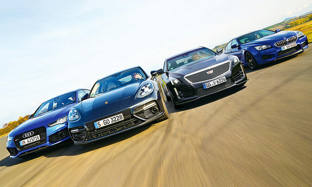 M6 Gran Coupé/CTS-V/Panamera Turbo/RS 7 Sportback: Test