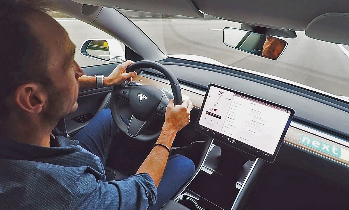 nextmove - Thomas Geiger testet unser Tesla Model 3 für die Autozeitung